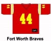 Fort Worth Braves Football Jersey